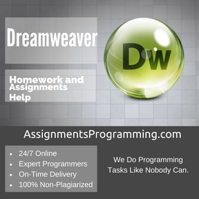 Dreamweaver Assignment Help