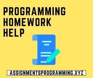 Programming Homework Help